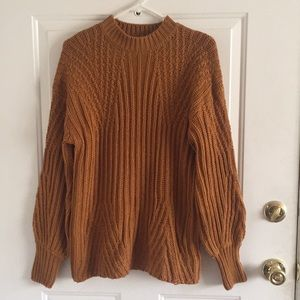 Rustic orange chunky sweater S